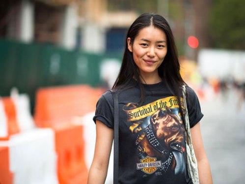 Liu Wen in Harley Davidson