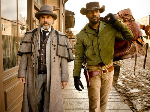 Christoph Waltz and Jamie Foxx in Django