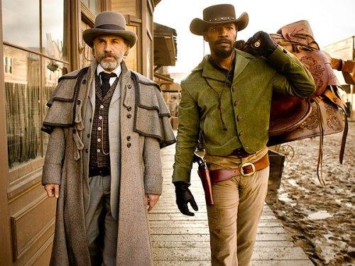 Christoph Waltz and Jamie Foxx in Django