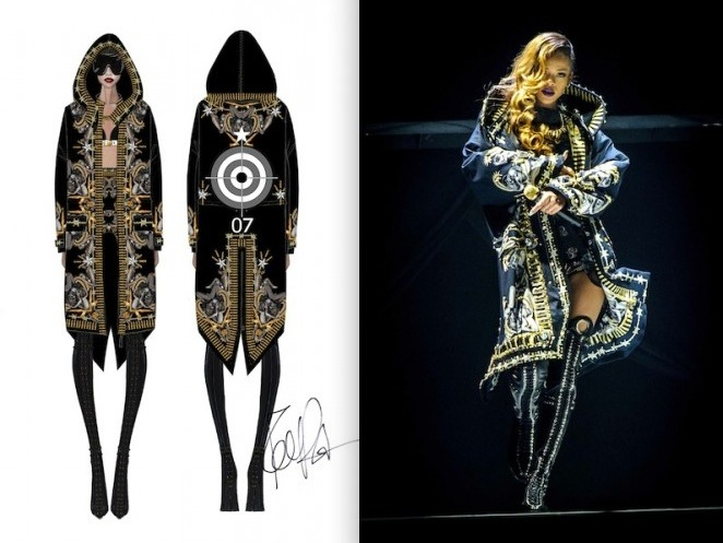 Rihanna in custom Givenchy Haute Couture for Diamonds Tour