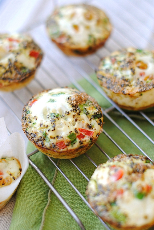 Clean Egg & Zucchini Muffins from Eat Yourself Skinny