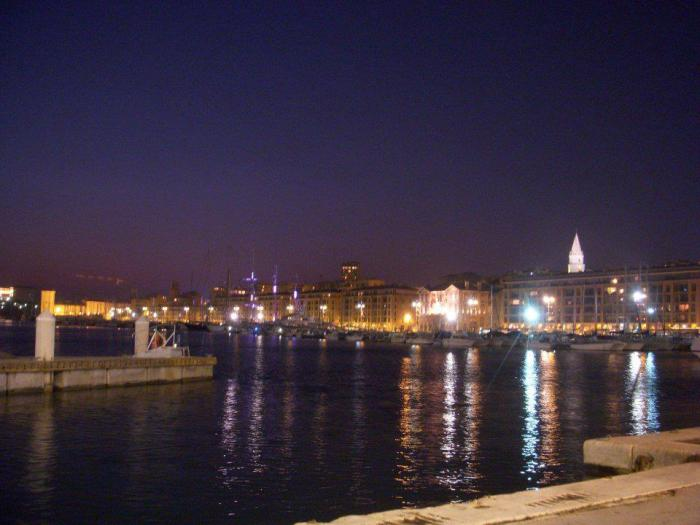 The Old Port of Marseille at night