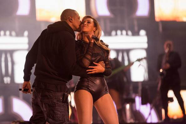 Beyonce and Jay-Z at Chime for Change