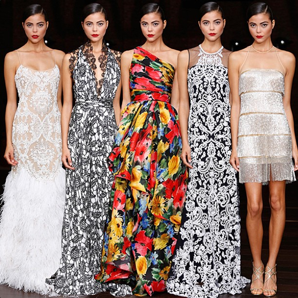 Naeem Khan Resort 2014 via mbfashionweek Instagram