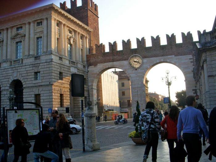 Verona glowing as sundown