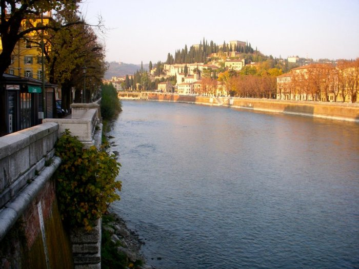 Verona views over Adige River