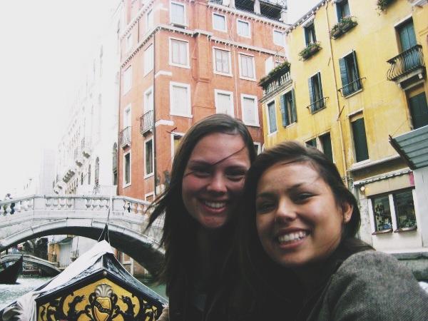 Gondola ride through the canals of Venice, Italy