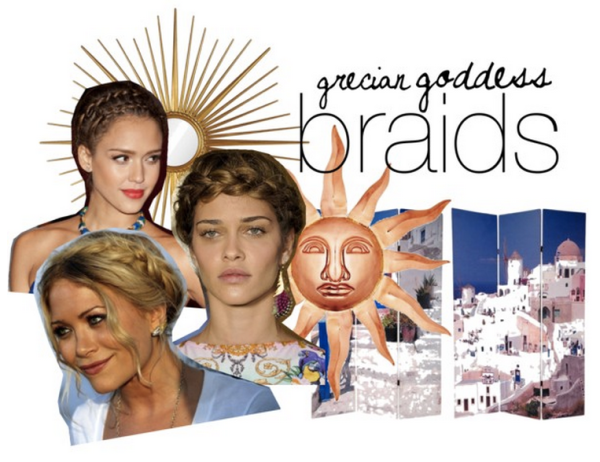 Grecian Goddess Braids Inspiration