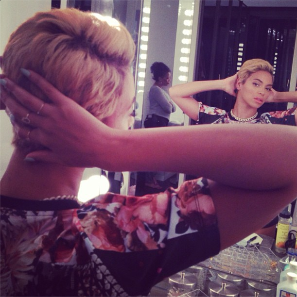 Beyonce new short hair
