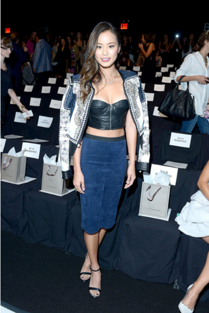 Jamie Chung at BCBG Max Azria in his designs via PopSugar