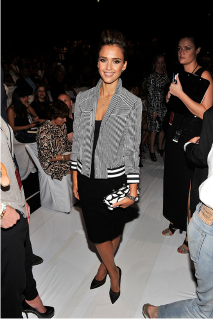 Jessica Alba at DVF via PopSugar