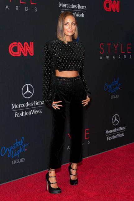Nicole Richie in Giorgio Armani at the 2013 Style Awards via PopSugar