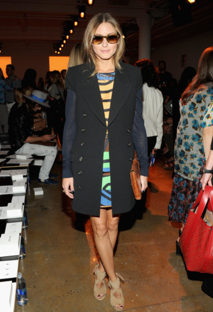 NYFW Spring 2014 Front Row Style Olivia Palermo via FabSugar