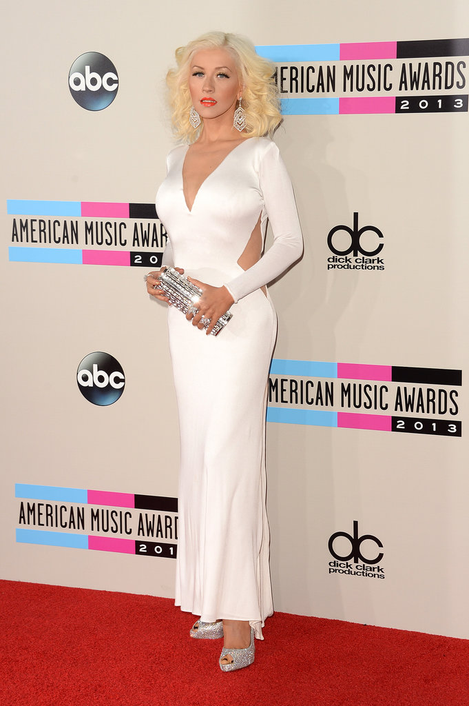 Christina Aguilera wearing Lorraine Schwartz jewelry and Jimmy Choo shoes