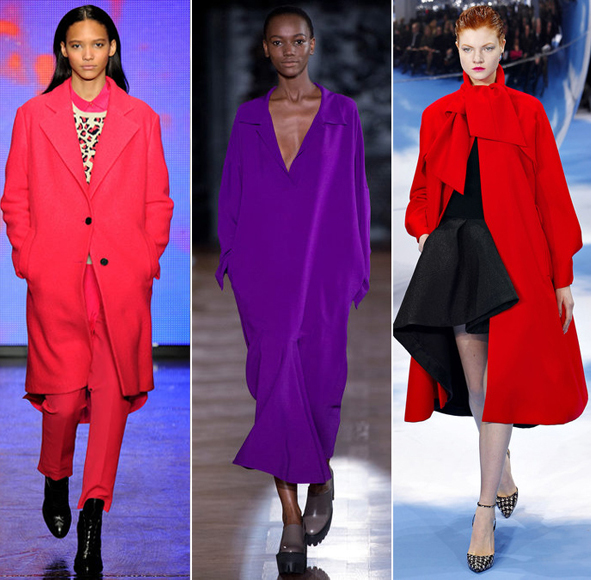Bright colors for Fall 2013 as seen at DKNY, Stella McCartney, Christian Dior.