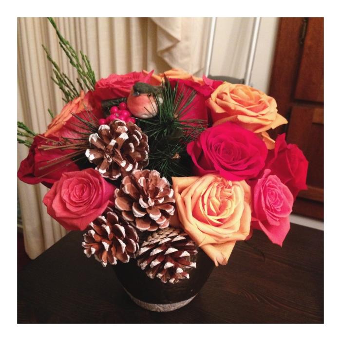 DIY Festive Flower Arrangement