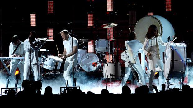 Kendrick Lamar and Imagine Dragons Grammys 2014