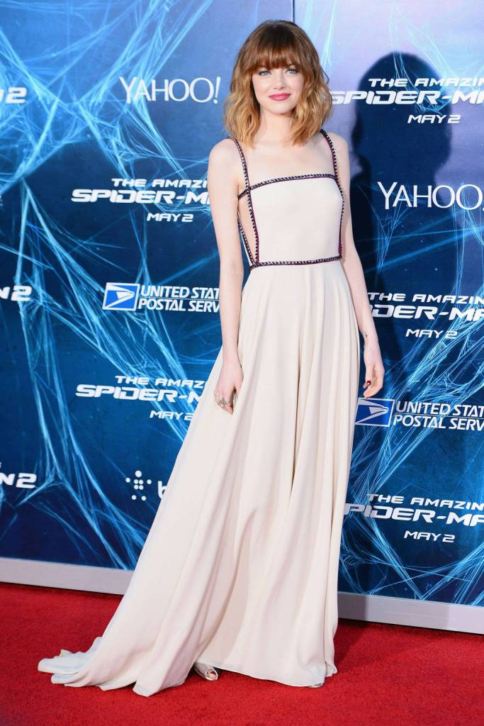 Emma Stone in Prada for Spider-Man 2 Premiere