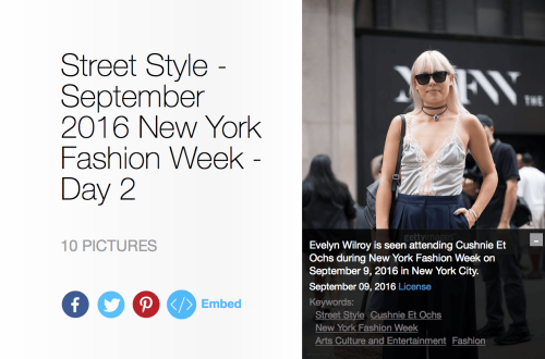 Evelyn Wilroy is seen attending Cushnie et Ochs during New York Fashion Week September 2016